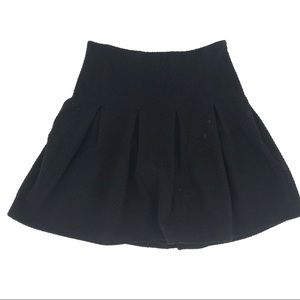 Anthropologie Maeve Pleated Mini Skirt Black